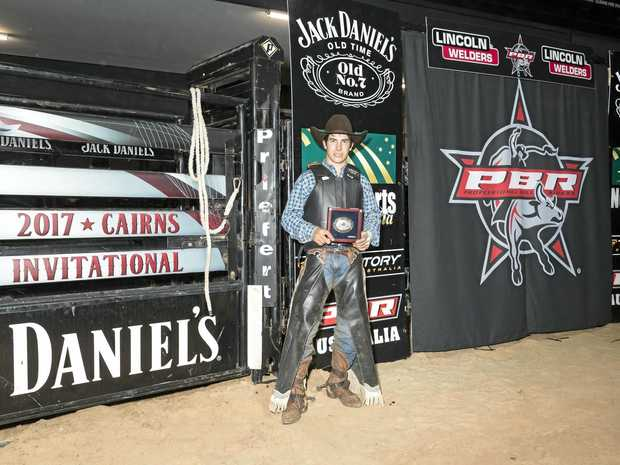 Kurt Shephard had members of the crowd on their feet at the PBR Cairns Invitational.