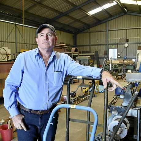 Pat Dunne from Toowoomba Auction Centre will run an auction at Westbrook Engineering for the estate of Trevor Davies.