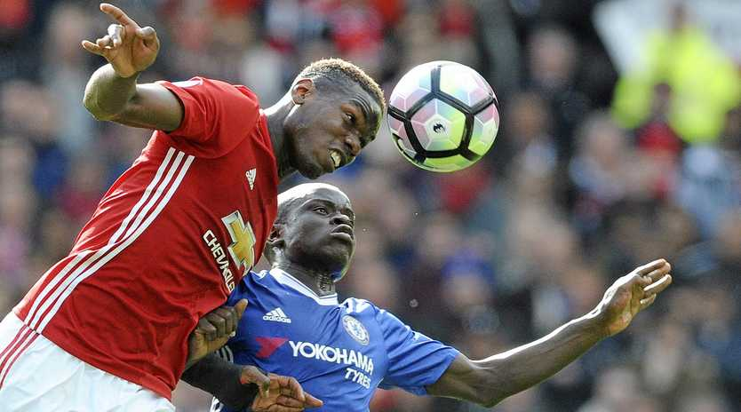 MOTIVATING FACTOR: The arrival of Paul Pogba (left) at Manchester United last year played a key role in Romelu Lukaku's decision to sign with the club.
