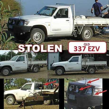 This white Nissan Patrol was stolen from Mirani-Eton Road in Mirani on Monday (337 EZV).