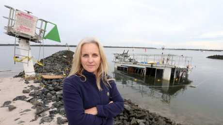 Harbour manager Susan Watson pictured at the entrance to the Bayview Harbour Yacht Squadron. Picture: Mike Batterham