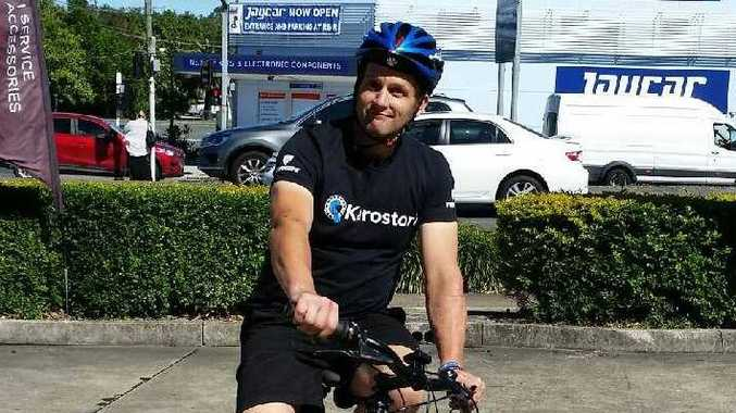 Cameron Cripps, 48, was killed when he collided with a car while cycling on Mt Nebo on Sunday morning.