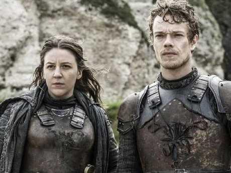 Yara and Theon Greyjoy in Game of Thrones.