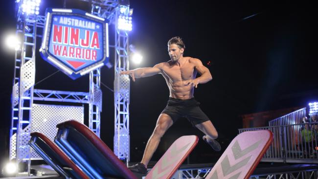 Tim Robards on Australian Ninja Warrior.Source:Supplied