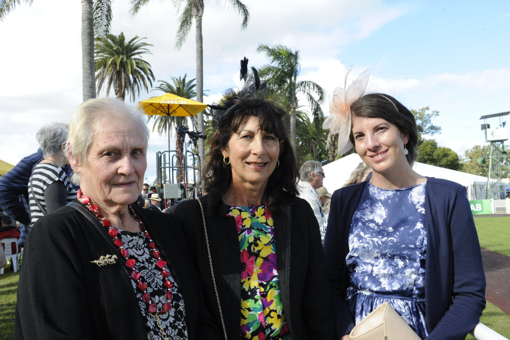 Beverly Morgan, Glenda and Rebekah Rogan have a family day out at Ramornie Race Day for Rebekah's birthday.