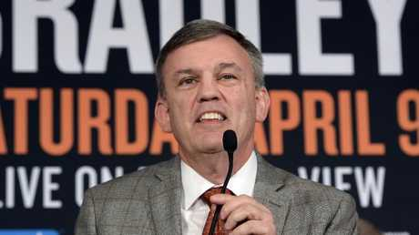 Teddy Atlas had plenty to say during the fight but was strangely quiet yesterday. Picture: Kevork Djansezian