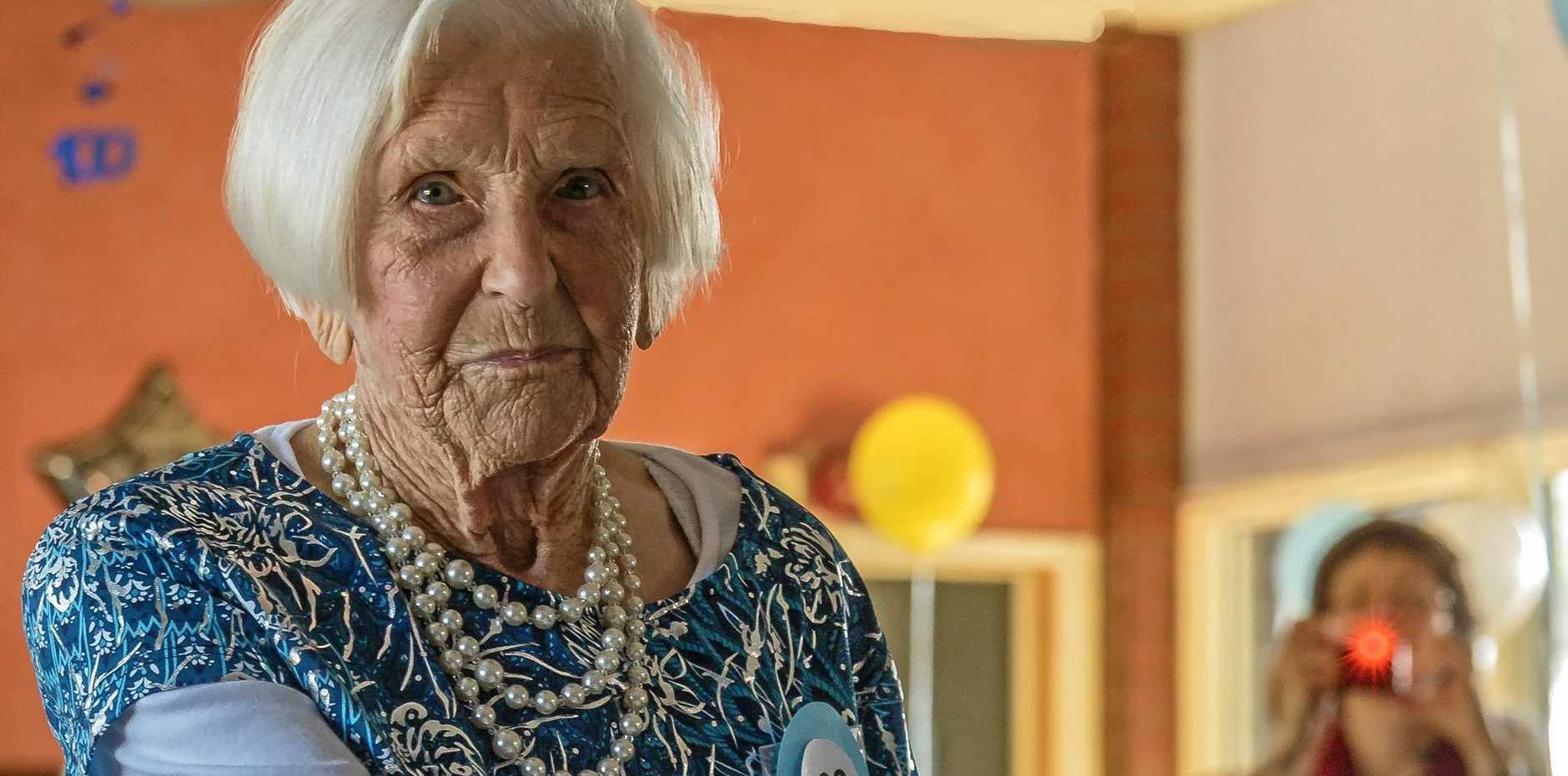 BUDERIM LEGEND: Buderim State School's oldest living pupil turns 100.