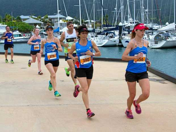 GET MOVING: The Port of Airlie will again provide a backdrop for the Airlie Beach Running Festival.