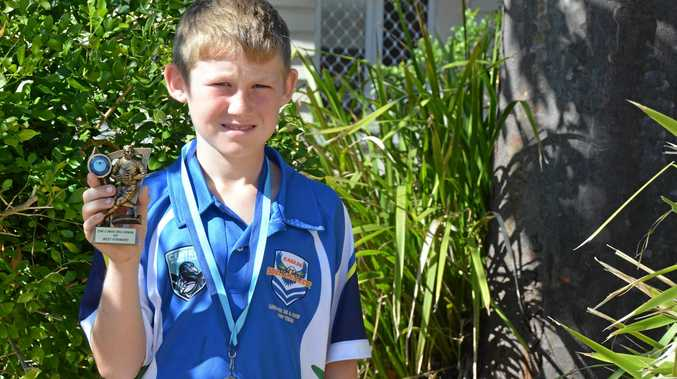 AIMING HIGH: Zachary Harris is a talented junior rugby league player and has been rewarded for it.