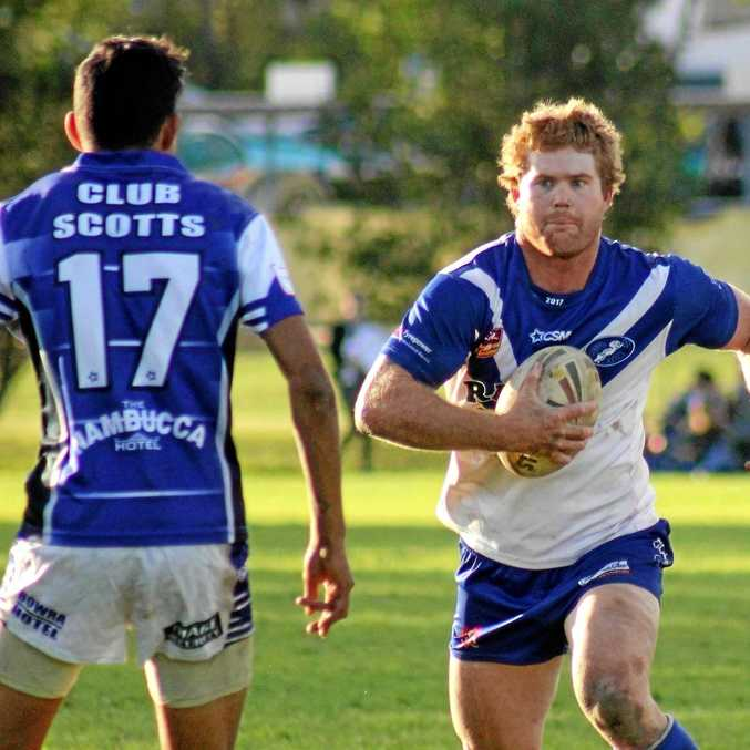 Grafton Ghosts lock Ben McLennan scored a double against Macksville Sea Eagles at the weekend.