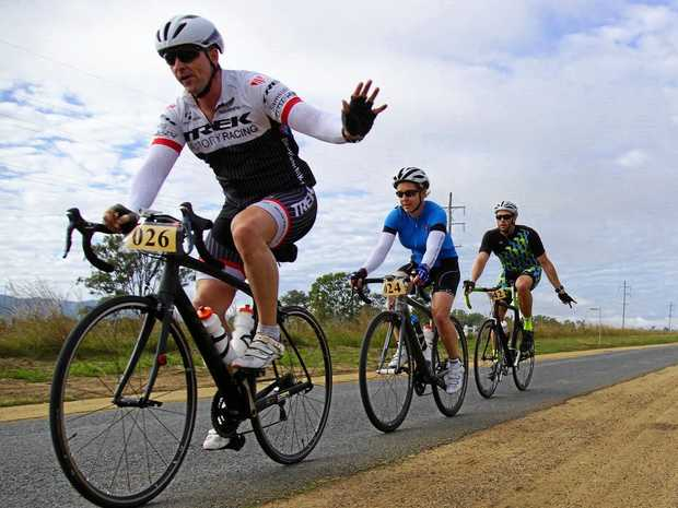 SMOOTH SAILING: Riders at a previous year's Tour de Chaplain make it look easy.