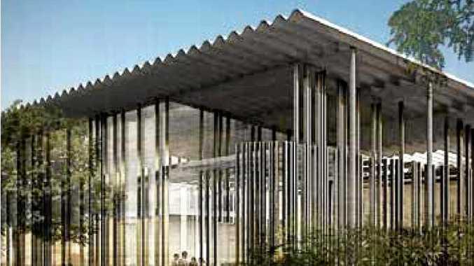 BIG PLANS: The exterior of the proposed trades training centre at CQUniversity's marina campus.