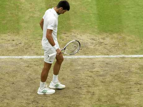 Novak Djokovic has criticised the state of the centre court at Wimbledon