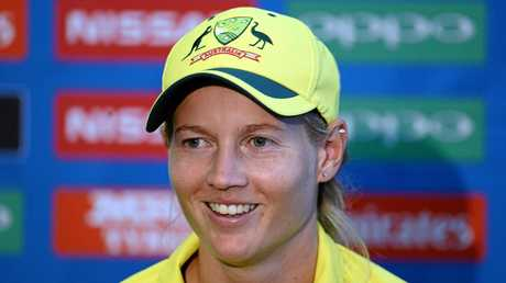 Captain Meg Lanning speaks after Australia's loss to host nation England at the Women's Cricket World Cup.