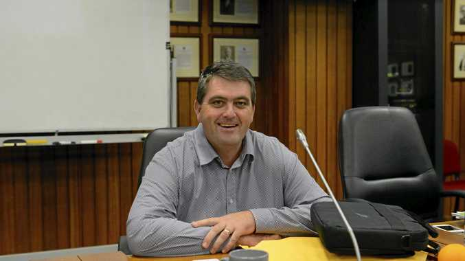 Councillor Richie Williamson at the Grafton Council Chambers.