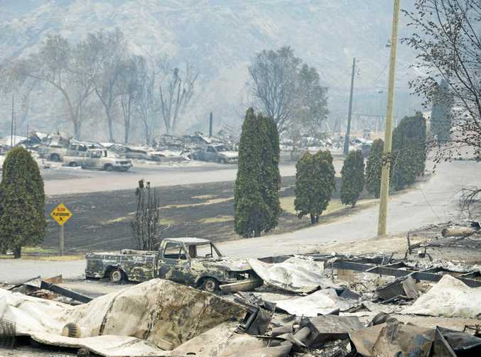 The area of Boston Flats, British Columbia, after a wildfire ripped through the area earlier in the week. British Columbia officials are bracing for a lengthy wildfire season as hundreds of blazes burn across the province with no reprieve in sight.