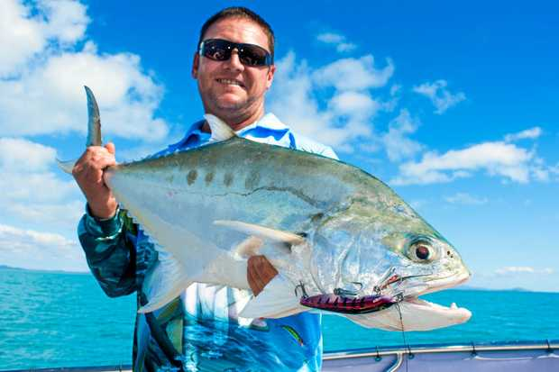 REELIN' ROYALTY: Gavin Leo with a solid queenfish caught on a hard body with Reel Addiction Sport Fishing.