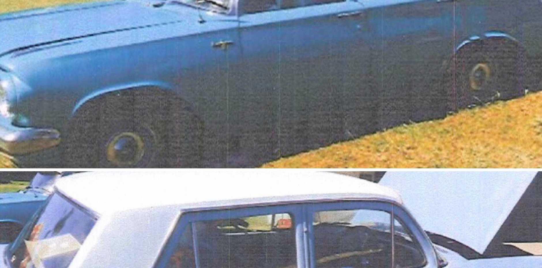 STOLEN: The Holden station wagon and sedan.