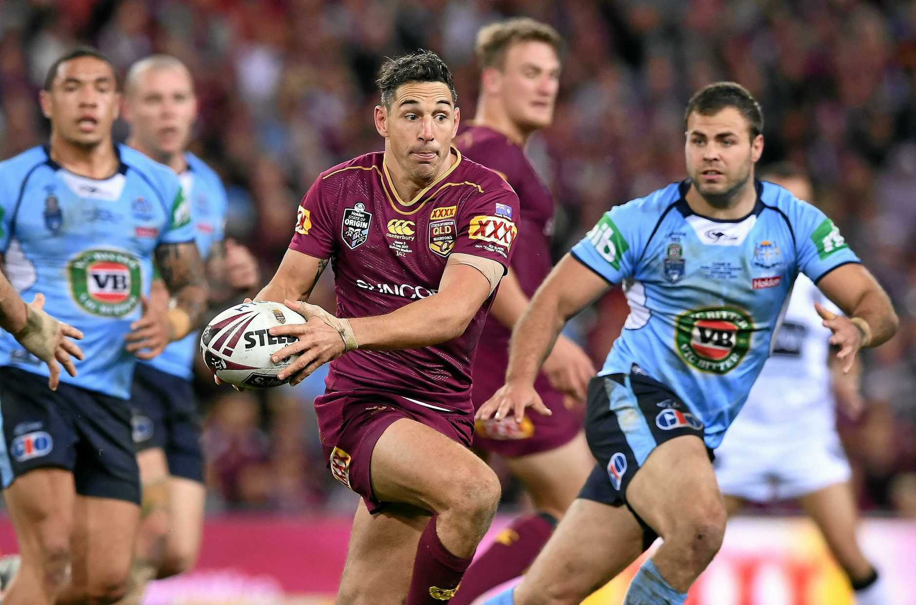 Billy Slater on the move.