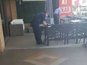 Police looking for man after baseball bat incident in cafe