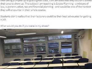 Prof's anger at empty class: 'Couldn't bother their ar#e'