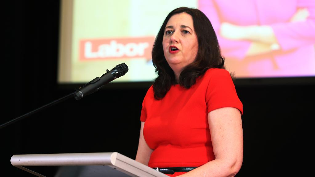 Queensland Premier Annastacia Palaszczuk at the Cairns meeting. Picture: Brendan Radke