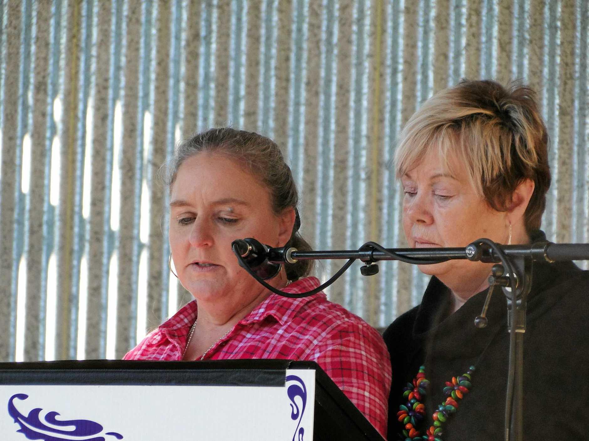 Karen Little honours her truck driving sister Gayle.