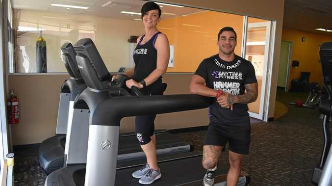 TEST AHEAD: Lisa Limpus and Mitch Terrick  prepare for the gruelling 24-hour treadmill challenge.