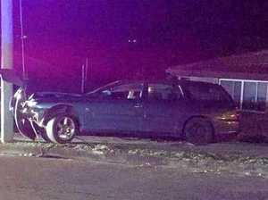 Car ploughs into power pole in Gympie