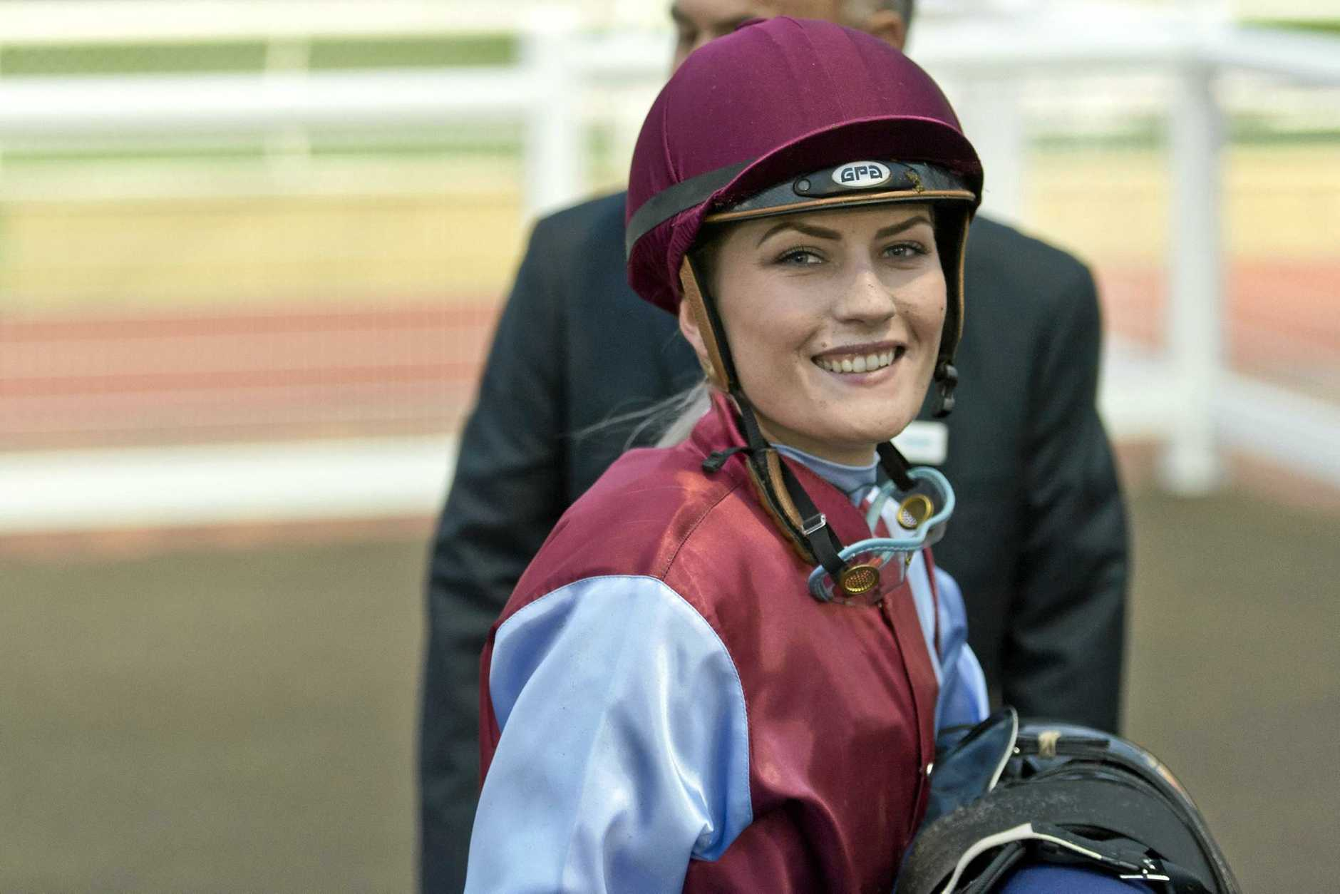 Toowoomba apprentice Ruby Ride is recovering from a Doomben race fall yesterday.