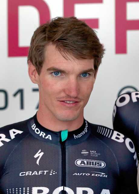 Australian cyclist Jay McCarthy of the Bora-Hansgrohe team.