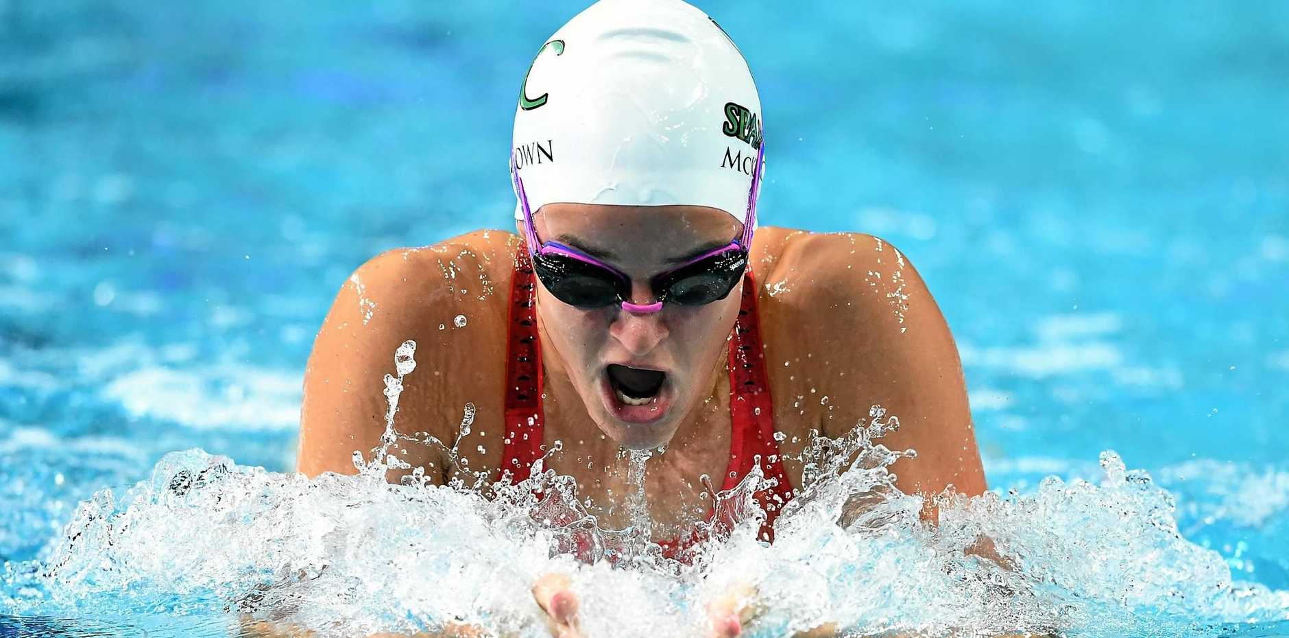 TALENTED: Kaylee McKeown of Australia competes in the Women's 200m Individual Medley during the 2017 Australian Swimming Championships at the Sleeman Sports Complex in April in Brisbane.