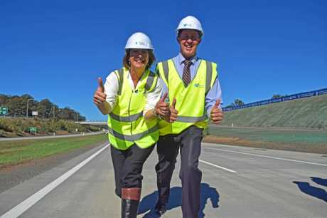 State Member for Oxley Melinda Pavey and Federal Member for Cowper Luke Hartsuyker at the official opening of the Nambucca to Urunga Pacific Hwy upgrade.