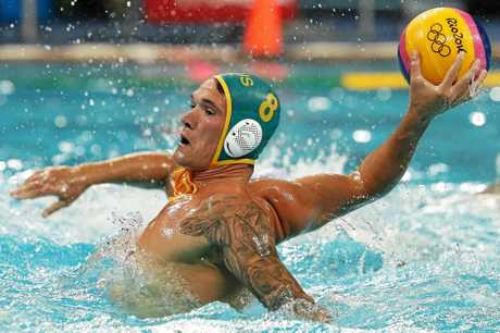 Aaron Younger playing for Australia against Brazil at the Rio Olympics.