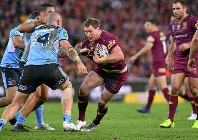 Tim Glasby of the Queensland Maroons during State of Origin Game 3 between the Queensland Maroons and NSW Blues, at Suncorp Stadium in Brisbane, on Wednesday, July 12, 2017. (AAP Image/Dave Hunt) NO ARCHIVING, EDITORIAL USE ONLY