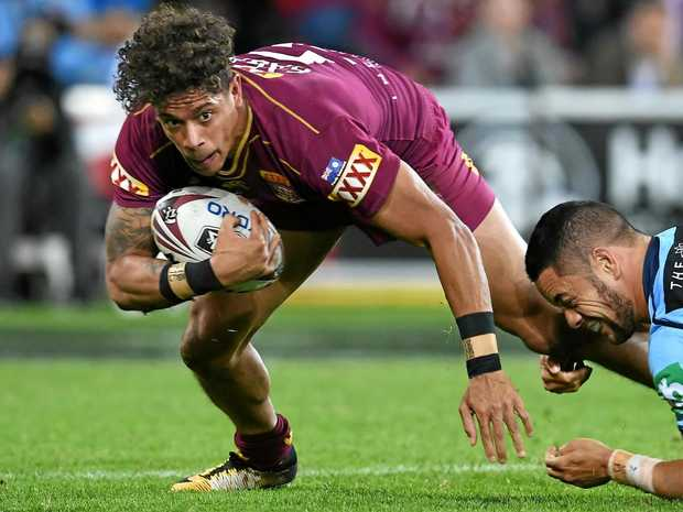 Mackay's Dane Gagai in State of Origin Game III at Suncorp Stadium on Wednesday, July 12, 2017.