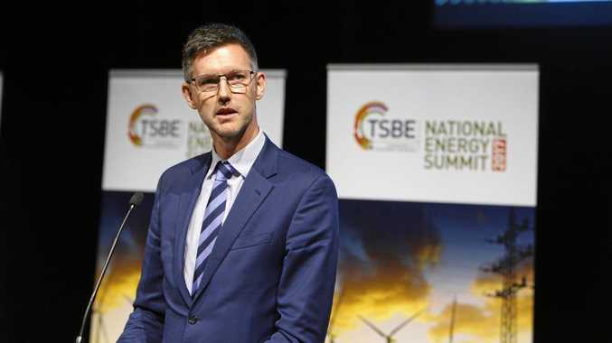 SOLAR SURGE: Minister for Energy, Biofuels and Water Supply Mark Bailey speaks at the Toowoomba and Surat Basin Enterprise National Energy Summit.