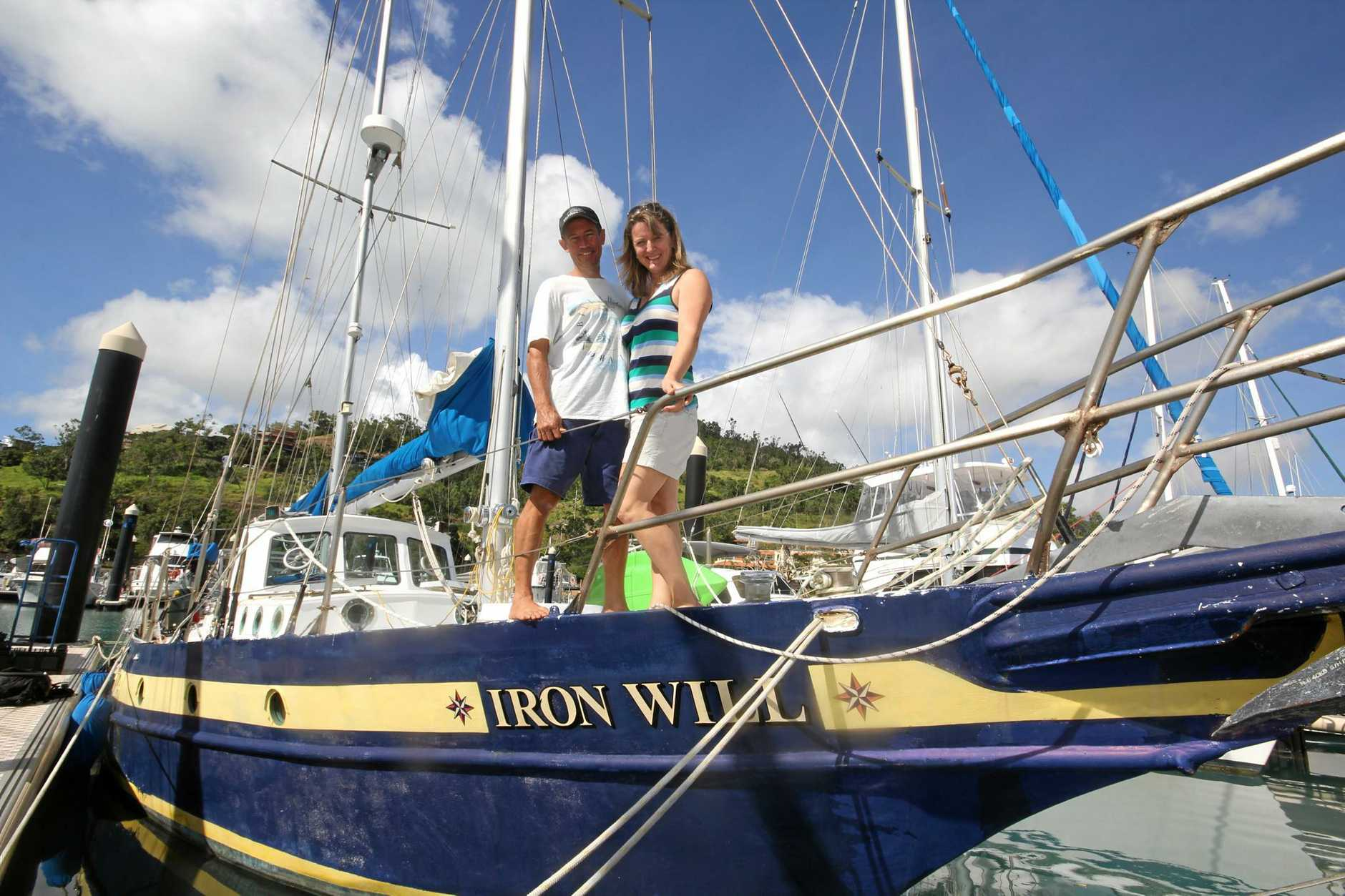 Iron Will currently berthed at the Abell Point Marina in the Whitsundays.