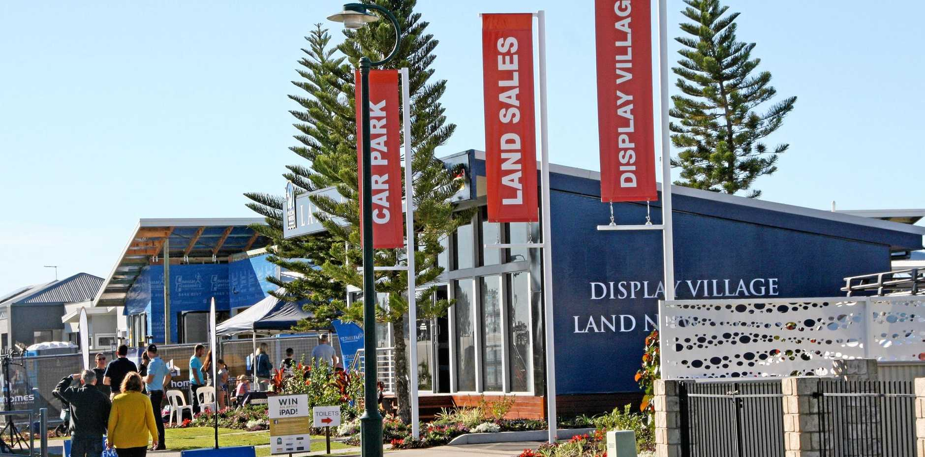 The opening day of the Pelican Waters display village at Sydney Ave.