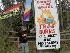 Sick burn: Peace activists will set Trump alight in Yeppoon