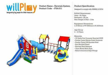 Play equipment that could be included in the Cannonvale Beach upgrade.