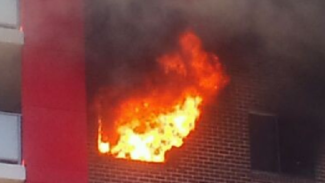 A blaze gutted a Bankstown apartment complex in 2012. Authorities fear a similar incident — or one on the scale of the Grenfell Tower fire — could occur in NSW.