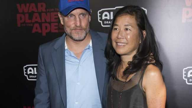 Woody Harrelson and wife Laura Louie attend the War for the Planet Of The Apes premiere in NYC. Picture: Charles Sykes/Invision/APSource:AP