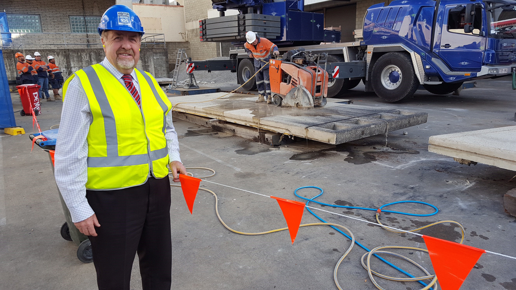 Ipswich City Properties (ICP) chairman Paul Tully on site today.