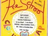 Kids' Stuff Swap! Bring your unwanted kids'/babies' clothes, toys, equipment etc and swap for new-old stuff. Bring the kids for a play in our lovely preschool.