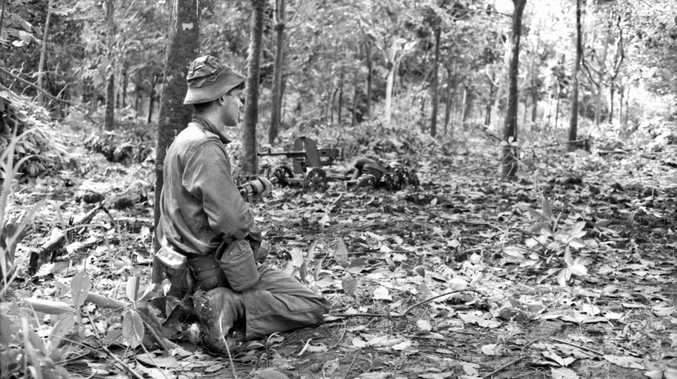 An Australian soldier during the battle of Long Tan in Vietnam on August 18, 1966. The battle was the bloodiest if not the biggest battle of Australia's involvement in Vietnam.
