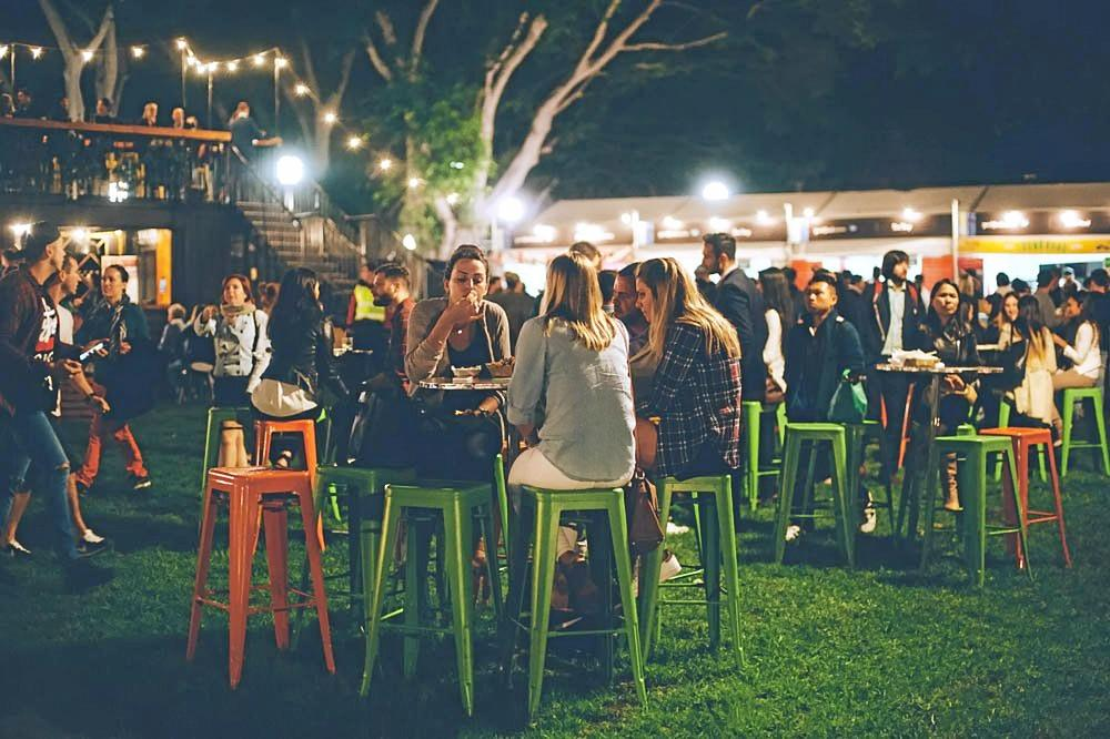 Night markets at good food month.