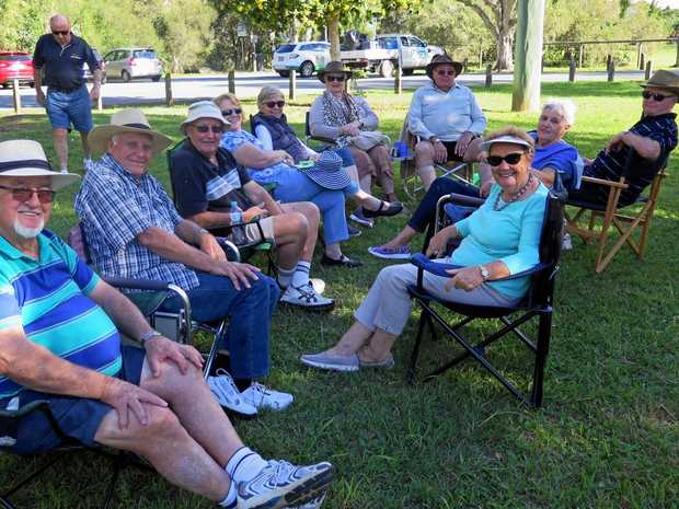 GOOD LIFE: Burleigh Waters Probus group members, relaxing at Schusters Park.
