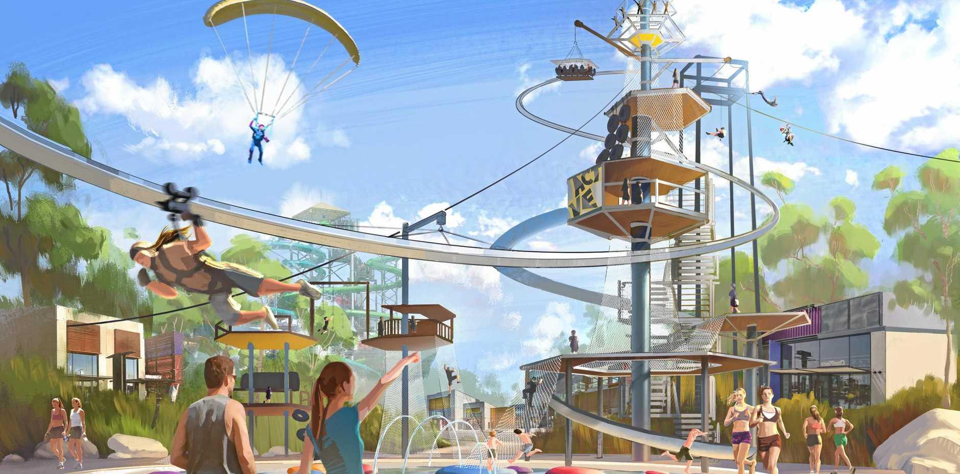 An artist's impression of the ACTVENTURE leisure park.