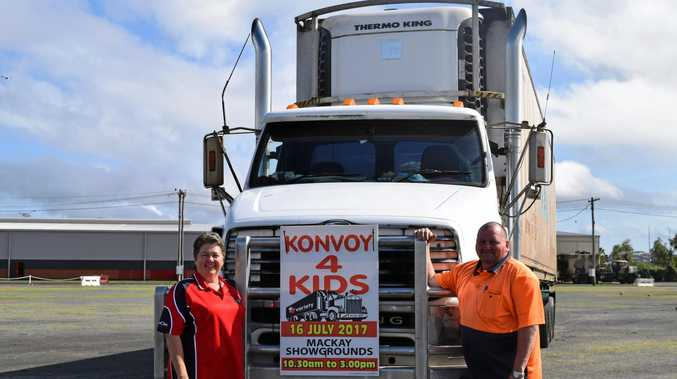 Konvoy 4 Kids organiser Madonna Stevens, and her brother Henry Manzelmann, are looking forward to seeing more than 120 trucks fill Mackay showgrounds on Sunday.